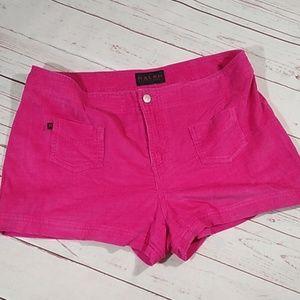 Bright pink short shorts size 10 corduroy